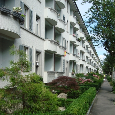 Blick von der Eichbühlstrasse