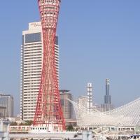 Der kelchfärmige Turm im Hafen