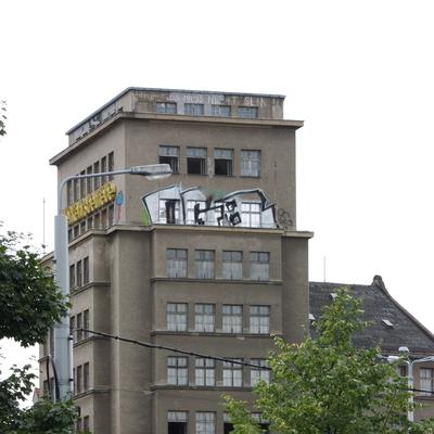 Das alte Hochhaus vor der Renovierung