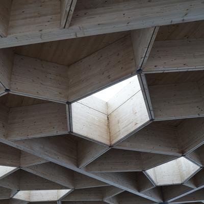 Dachkonstruktion / Waben