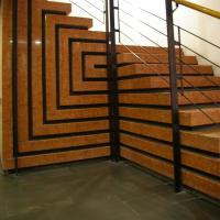 Schichtung der Treppe