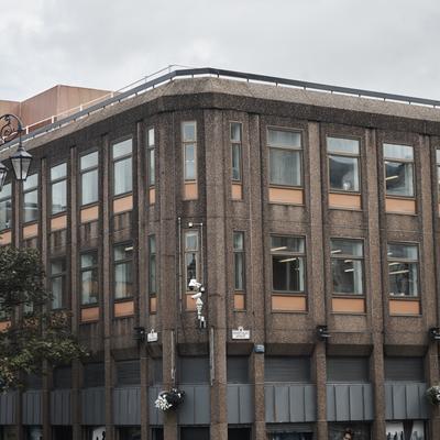 Rückseite des alten Einkaufszentrums