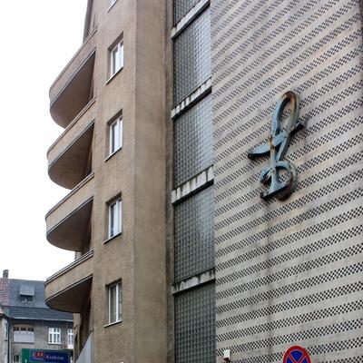 Emblem an der Wand