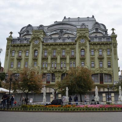 Die Fassade auch bekannt als Hotel Bolshaya Moskovskaya